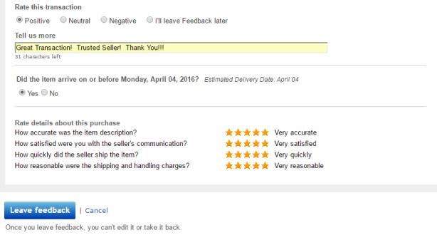 ebay feedback atlas concepts